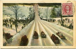 MOUNT ROYAL TOBOGGAN SLIDE, MONTREAL. CANADA POST CARD CPA CIRCULATED 1964 - LILHU - Montreal