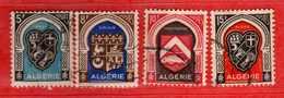 (Us3) ALGERIA - ALGERIE °- 1948 - Armoiries De  Villes  Yvert. N° 268 à 271. Oblitéré .  Vedi Descrizione - Algeria (1924-1962)