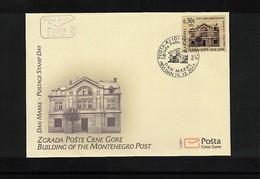 Montenegro 2017 Post Office Building  FDC - Montenegro