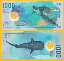 Maldives 1000 Rufiyaa P-31 2015 UNC Polymer Banknote - Maldives