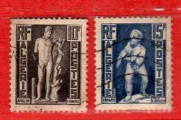 (Us3) ALGERIA - ALGERIE °- 1952 - Statues  Yvert. N° 288-290. Oblitéré .  Vedi Descrizione - Algeria (1924-1962)