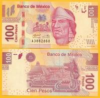 Mexico 100 Pesos P-124 2017 (Serie BE) UNC Banknote - México