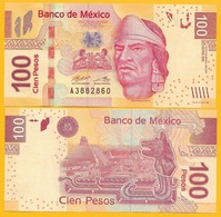 Mexico 100 Pesos P-124 2017 (Serie BE) UNC Banknote - Mexico