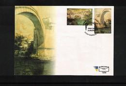 Bosnia And Herzegowina Sarajevo 2004 Mostar Bridge  FDC - Brücken