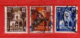 (Us3) ALGERIA - ALGERIE °- 1954-55 -  Yvert. N° 313A-313B-314. Oblitéré .  Vedi Descrizione - Algeria (1924-1962)