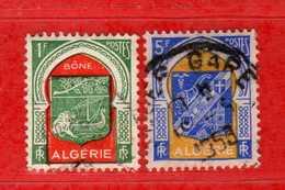(Us3) ALGERIA - ALGERIE °- 1956-58 - Armoiries De Villes  Yvert. N° 337-337c. Oblitéré .  Vedi Descrizione - Algeria (1924-1962)