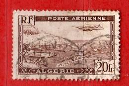 (Us3)  ALGERIE °- 1946-47 - Poste Aerienne. 20 C. Yvert. N° PA.4 . Oblitéré .  Vedi Descrizione - Algeria (1924-1962)