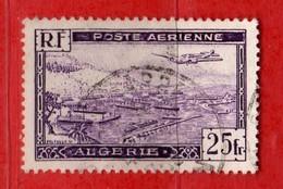 (Us3)  ALGERIE °- 1946-47 - Poste Aerienne. 25 C. Yvert. N° PA.5 . Oblitéré .  Vedi Descrizione - Algeria (1924-1962)