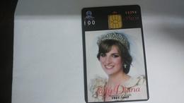 Indonesia-lady Diana 1961-1997-(100units)-(01131837)-used Card+1card Prepiad Free - Indonesia