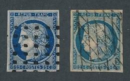 """N-453: FRANCE: Lot Avec """"CERES"""" N °4 Avec 2 Obl Intéressantes (2ème Choix à Défectueux, Réparés Mais Assez Beau D'aspect - 1849-1850 Ceres"""