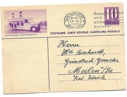 """12 - 88 - Entier Postal  Avec Illustration """"Automobil-Postbureau"""" Oblit Mécanique 1939 - Entiers Postaux"""