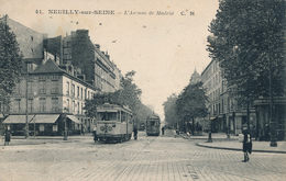 92) NEUILLY-SUR-SEINE : Avenue De Madrid (Tramway) - Neuilly Sur Seine