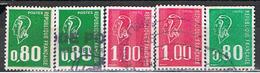 (1F 902) FRANCE // YVERT 1891, 1891 A), 1892, 1892 A), 1893 // 1976 - France