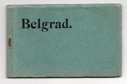 1910s WWI GERMAN OCCUPATION, SERBIA, BELGRADE, BEOGRAD, BOOK OF 10 ILLUSTRATED POSTCARDS - Serbia