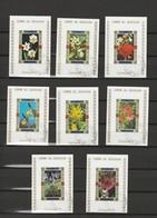 Lots 16 Timbres Les Fleurs Non Dentelé - Umm Al Qiwain- Année 1972 Mi 1039, 1045, 1044, 1034, 1037, 1042, 1047, 1046, - Umm Al-Qiwain