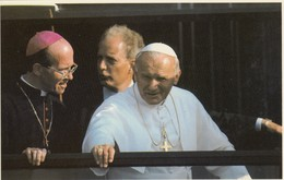 Postcard His Holiness Pope John Paul Ll At Liverpool May 1982 Close Up Catholic Religion My Ref  B13308 - Popes