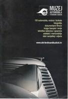 Croatia Zagreb / Car Museum Ferdinand Budicki / Prospectus, Brochure - Publicidad