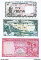 Belgium Congo 6 Note Set 1955 (COPY) - Billetes