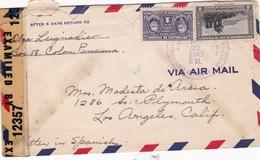 1943 AIRMAIL CIRCULEE PANAMA TO LOS ANGELES, USA, OPENED BY CENSOR - BLEUP - Panamá