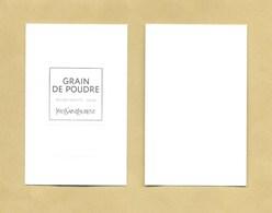 Carte Parfumée Perfume Card GRAIN DE POUDRE * YVES SAINT LAURENT YSL * R/V - Parfumkaarten