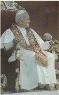 Postcard His Holiness Pope John Paul Ll Enthroned At York May 1982 Close Up Catholic Religion My Ref  B13310 - Popes