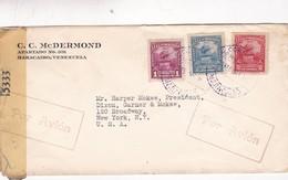 CC McDERMOND- COMMERCIAL ENVELOPPE YEAR 1944 AIRMAIL CIRCULEE VENEZUELA TO USA, OPENED BY CENSOR - BLEUP - Venezuela