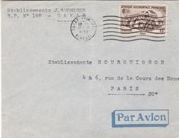 1953 AIRMAIL CIRCULEE AOF AFRIQUE OCCIDENTALE FRANÇAISE A PARIS - BLEUP - A.O.F. (1934-1959)