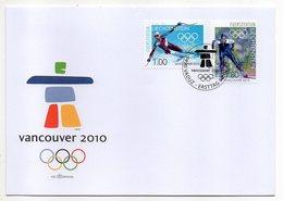Liechtenstein  -- 2010 -- FDC -- JO  Vancouver   ( Ski  )--cachet  VADUZ - FDC