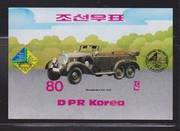 NORTH KOREA Scott # 2530 MNH Souvenir Sheet - 1938 Mercedes - Korea, North