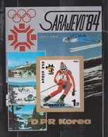 NORTH KOREA Souvenir Sheet Issued For Sarajevo Winter Olympics # 1 - Korea, North