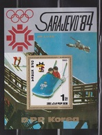 NORTH KOREA Souvenir Sheet Issued For Sarajevo Winter Olympics # 2 - Korea, North