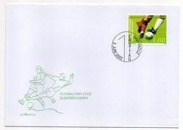 Liechtenstein  -- 2002 -- FDC -- Football  WM 2002  Corée Du Sud-- Japon --   --cachet  VADUZ - FDC