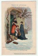 """Carte Publicitaire Avec Fables De Lafontaine """"la Cigale Et La Fourmi"""" (texte Au Dos) - Vieux Papiers"""