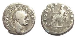 [H] +++ AR Denarius / Denier - VESPASIAN -- RIC 10 -- Pax +++ - 2. Die Flavische Dynastie (69 / 96)