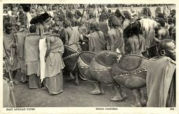 East African Types, Masai Dancers, Native Shield (1950s) Skulina RPPC Postcard - Kenya