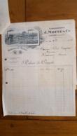 FACTURE ET LETTRE DE CHANGE 1921 ETS J.  MOTTE ET CIE MARGARINE ASTRA YVETOT - 1900 – 1949