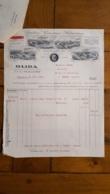 FACTURE ET LETTRE DE CHANGE 1926 OLIDA JAMBONS CONSERVES SALAISONS SAINT QUENTIN - 1900 – 1949