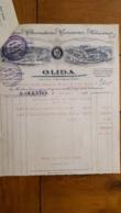 FACTURE ET LETTRE DE CHANGE 1925 OLIDA JAMBONS CONSERVES SALAISONS SAINT QUENTIN - 1900 – 1949