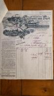 FACTURE ET LETTRE DE CHANGE 1925 LAITERIE DES FAYT A FAYT - 1900 – 1949