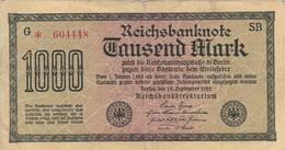Reichsbanknote 1000 Mark - 1922 (41484) - [ 3] 1918-1933 : Weimar Republic