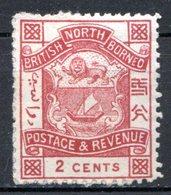 BORNEO DU NORD - (Compagnie) - 1886-89 - N° 20 - 2c. Brun - (Armoiries) - North Borneo (...-1963)