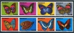 PAPILLONS BUTTERFLIES MARIPOSAS. PARAGUAY YVERT 1514 / 1521 MNH COMPLETE SERIE - LILHU - Papillons
