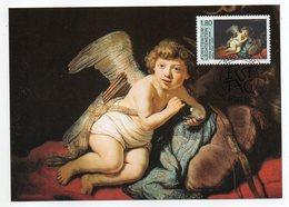 Liechtenstein  -- 2001 -- C.Maximum  -- Rembrandt   (ange )    --cachet  VADUZ - Cartes-Maximum (CM)