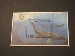 TONGA-NIUAFOOU - BF 1995 PLESIOSAURO - NUOVO(++) - Tonga (1970-...)