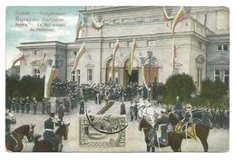 POSTCARD OF SOPHIA , LE ROI SORTANT DU PARLEMENT , 1911 . - Bulgaria