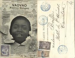 Madagascar, Gazatim-Panjakana Vaovao Newspaper, Native Young Boy (1906) Postcard - Madagascar