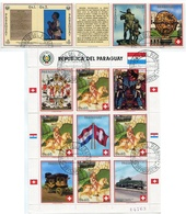 500 AÑOS DESCUBLIMIENTO DE AMERICA,700 AÑOS SUIZA. PARAGUAY YVERT 2495 / 2499 YEAR 1990 COMPLETE SERIE OBLITERES - LILHU - Paraguay