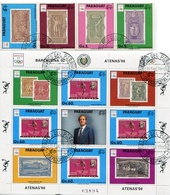 OLYMPIC GAMES BARCELONA '92 - ATENAS '96. PARAGUAY YVERT 2490 / 2494 YEAR 1990 COMPLETE SERIE WITH BLOCK OBLITERES LILHU - Summer 1896: Athens