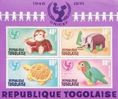 TOGO  1971 UNICEF, 25th. Anniv. S/S - Togo (1960-...)