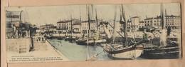 Blaye 33 Vue Panoramique Du Cours Du Port & Bateaux Au Refuge Dans Le Chenal Sur Les Bords De La Gironde 2scans Pétroles - Blaye